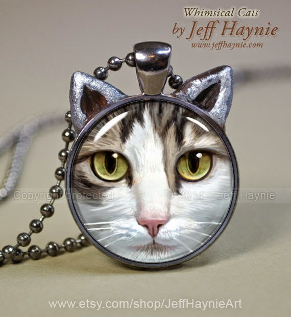 26-Tabby-Cat-Pendant-Jeff-Haynie-Cats in Drawings-Paintings-and-Jewelry-www-designstack-co