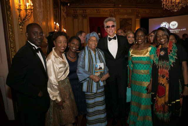 SAP CEO Bill McDermott and President Ellen Johnson Sirleaf.