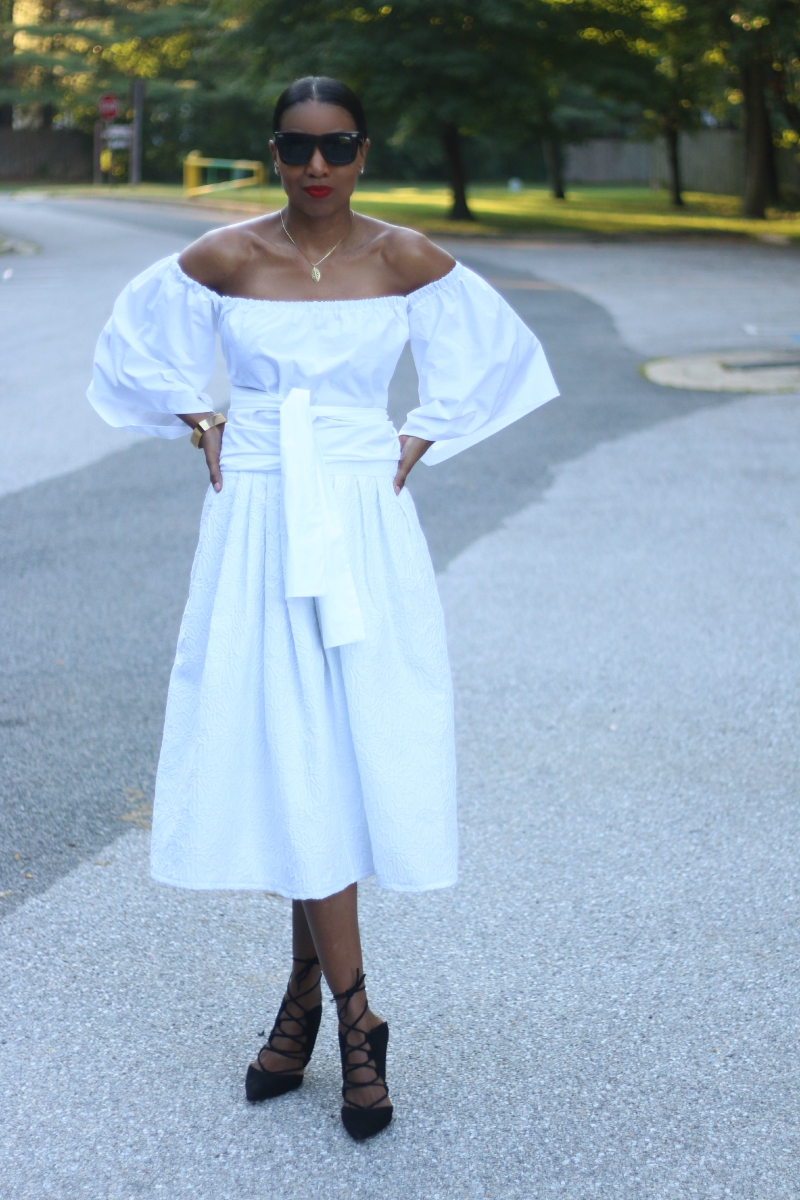 04ac09c6d907 DIY Off the shoulder midi with free pattern download