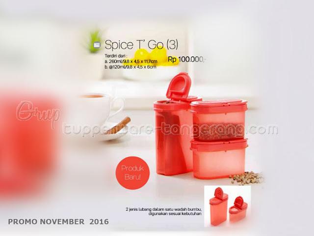 Spice T go Promo Tupperware November 2016