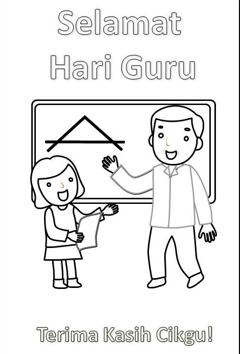 Download Lembaran Kerja Mewarna Tema Hari Guru Mykssr Com