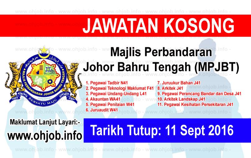 Jawatan Kerja Kosong Majlis Perbandaran Johor Bahru Tengah (MPJBT) logo www.ohjob.info september 2016