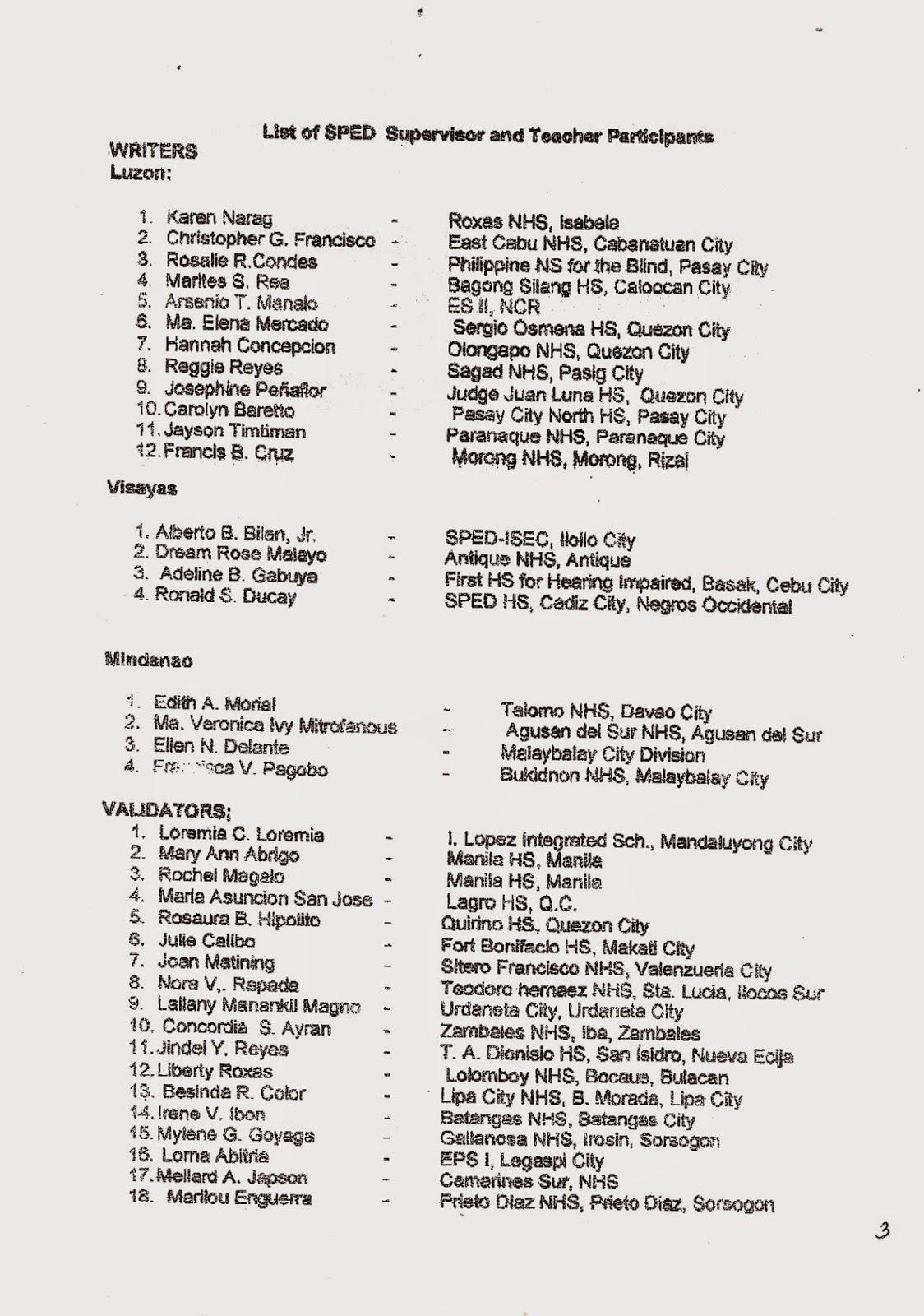 Department Of Education Manila Division Memorandum No 379