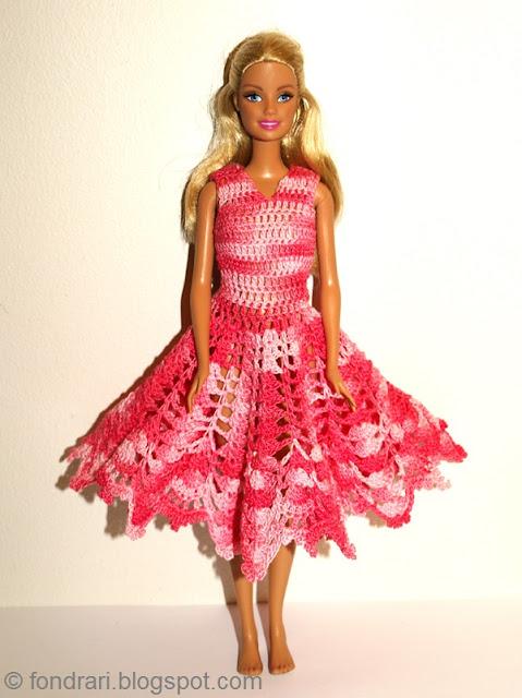 Heklaður Barbie kjóll