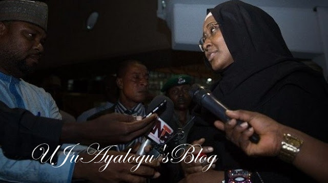 Aisha returns from UK, says Buhari happy with Osinbajo's 'loyalty'