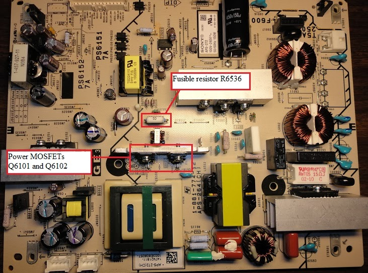 Preher-Tech Blog: Sony BRAVIA KDL40EX600, no power, APS-272