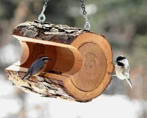 como fazer um comedouro de passarinhos