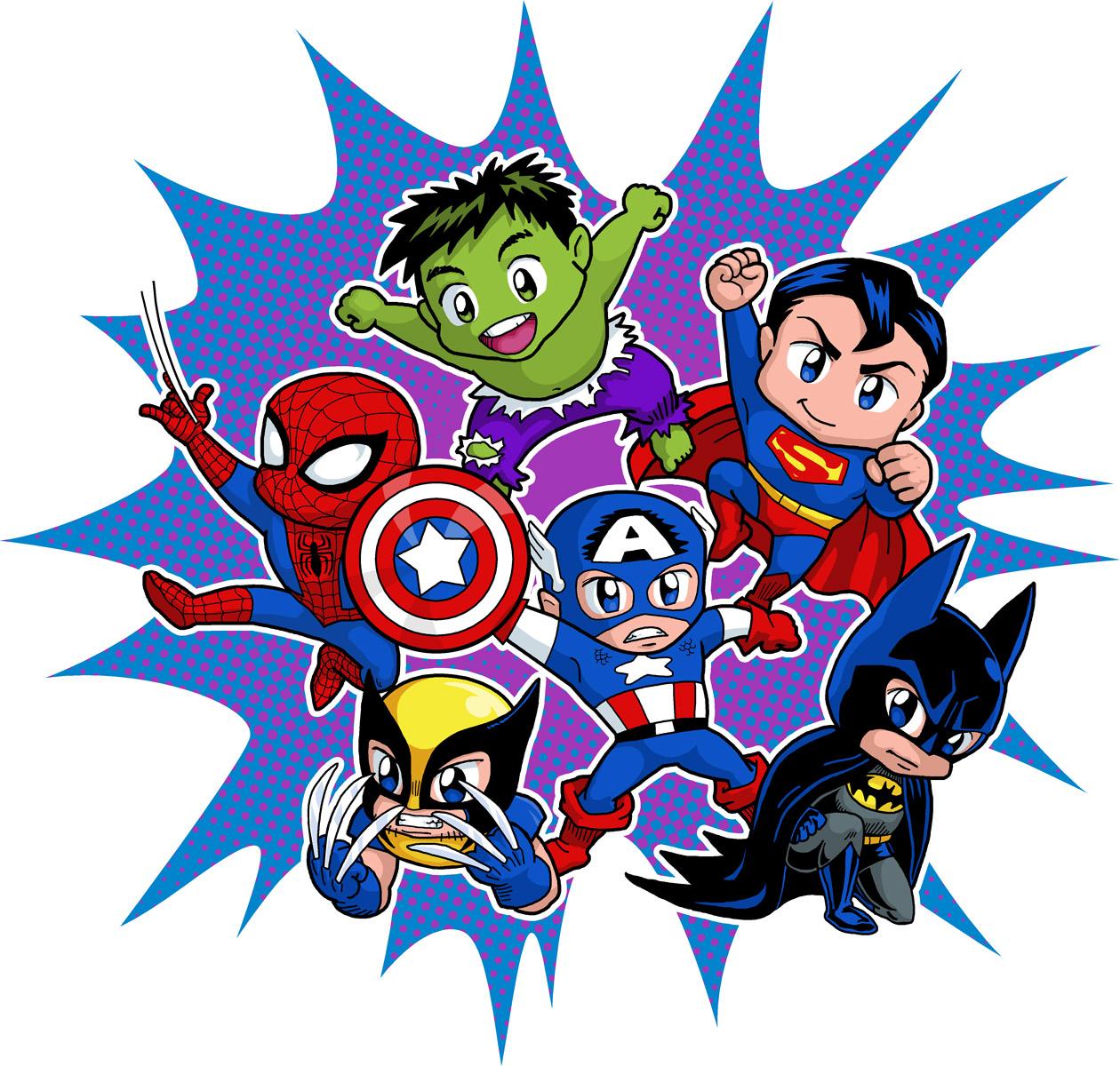 P ster de super h roes chibi oh my fiesta friki - Poster super heros ...