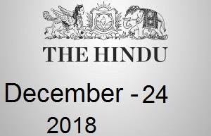 The Hindu Newspaper Today 24 December 2018 Download PDF