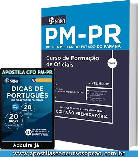 apostila concurso público CFO PM-PR 2018