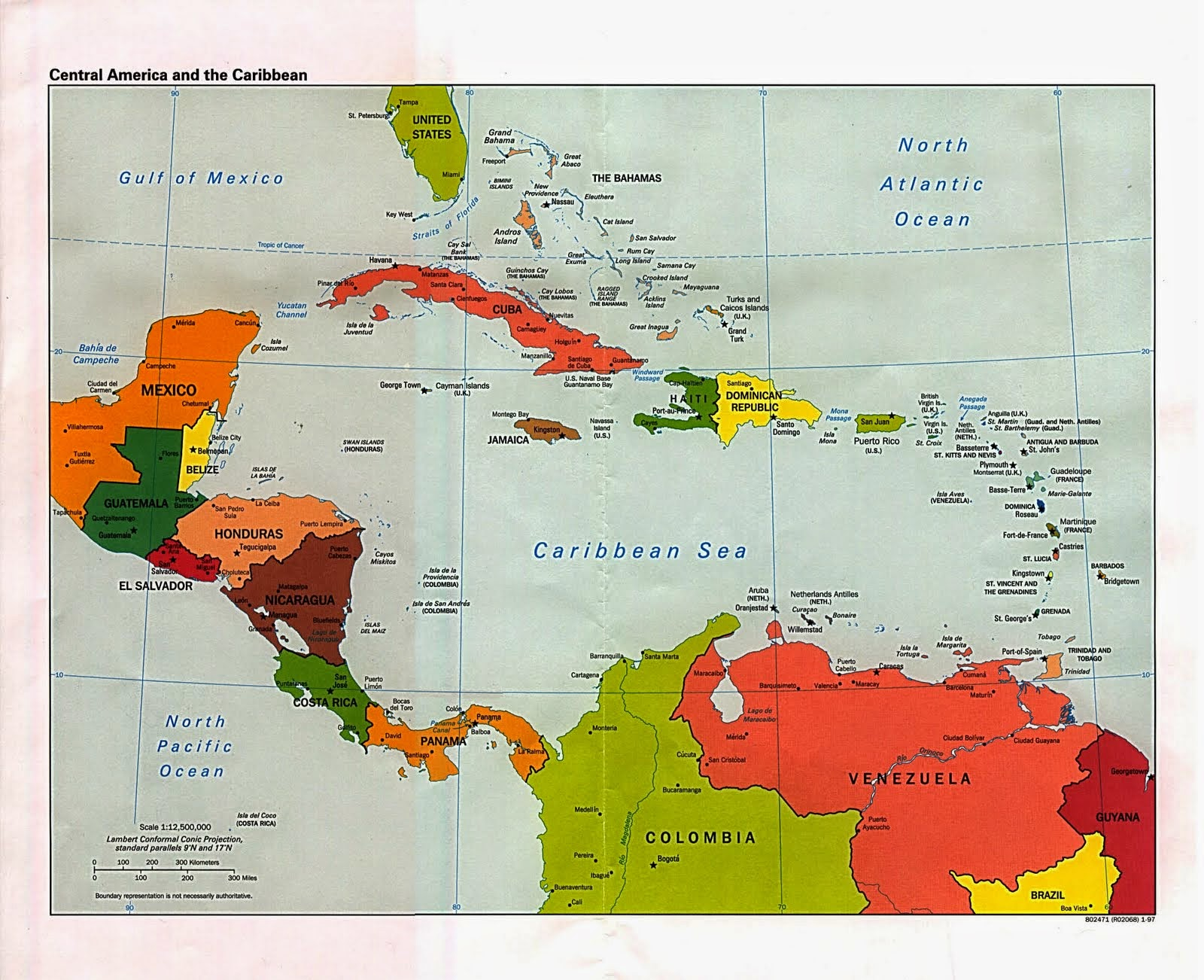 Useful Central America map