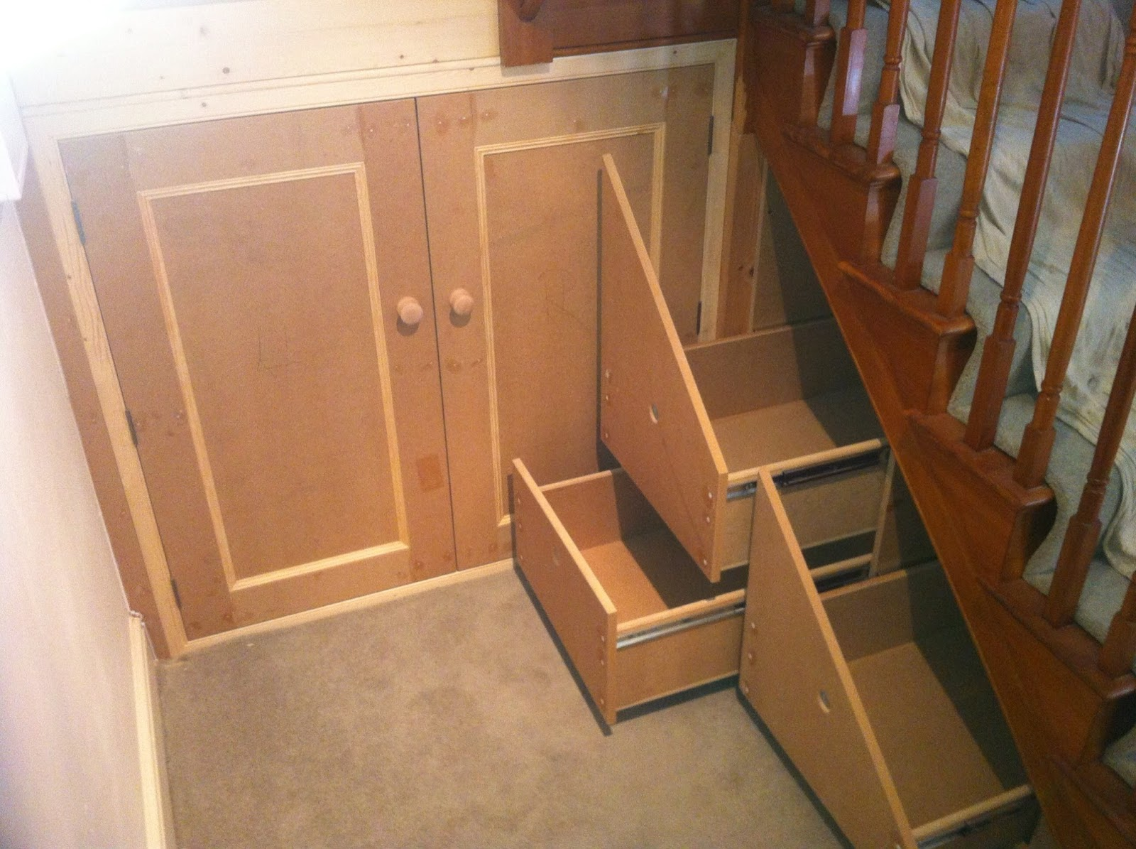 Bespoke Under Stairs Shelving: H. Wells Property Maintenance And Bespoke Carpentry: Under