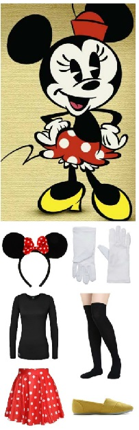 Minnie Mouse Costume - Halloween Costume Ideas Minnie Mouse red and white polka dot skirt