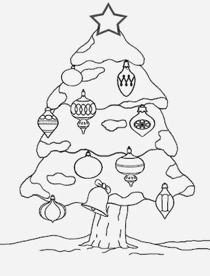 Enjoyable family Christmas decorations outdoor Xmas tree cool drawing ideas for teenagers to color