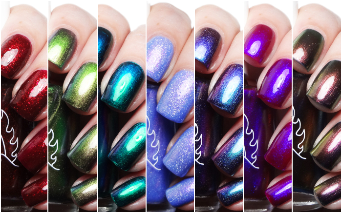 xoxoJen's swatch of Great Lakes Lacquer Polishing Poetic & Revivals