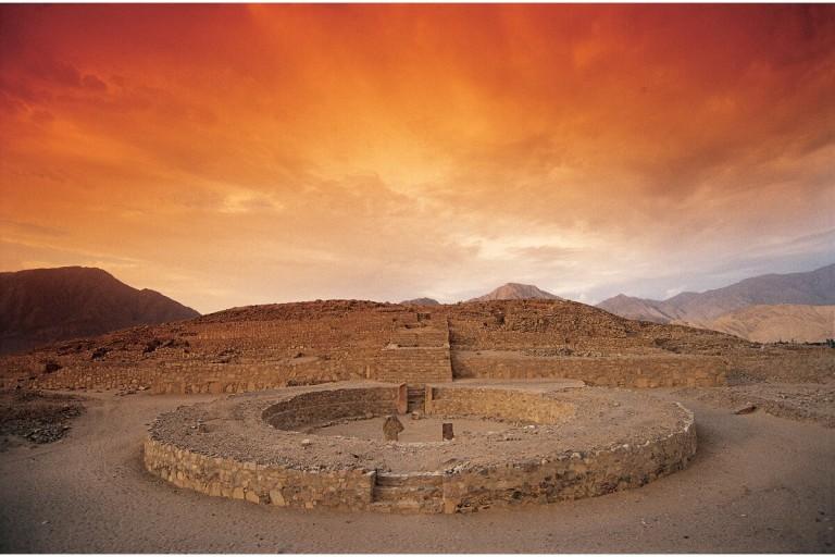 Plaza circular de Caral
