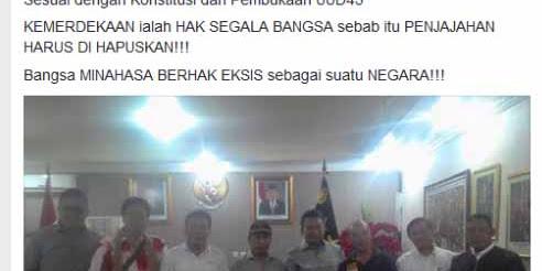 Aksi Bela Ahok Momen Makar Deklarasi Minahasa Raya Merdeka