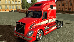 Volvo VNL 670 Limited Red