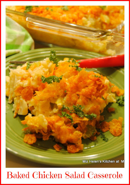 Baked Chicken Salad Casserole at Miz Helen's Country Cottage