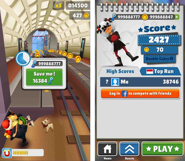Cheat Subway Surfers Washington DC Unlimited Koin