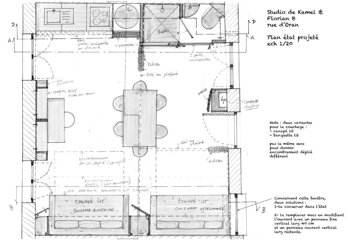 Dessiner Un Plan Détaillé Dun Studio