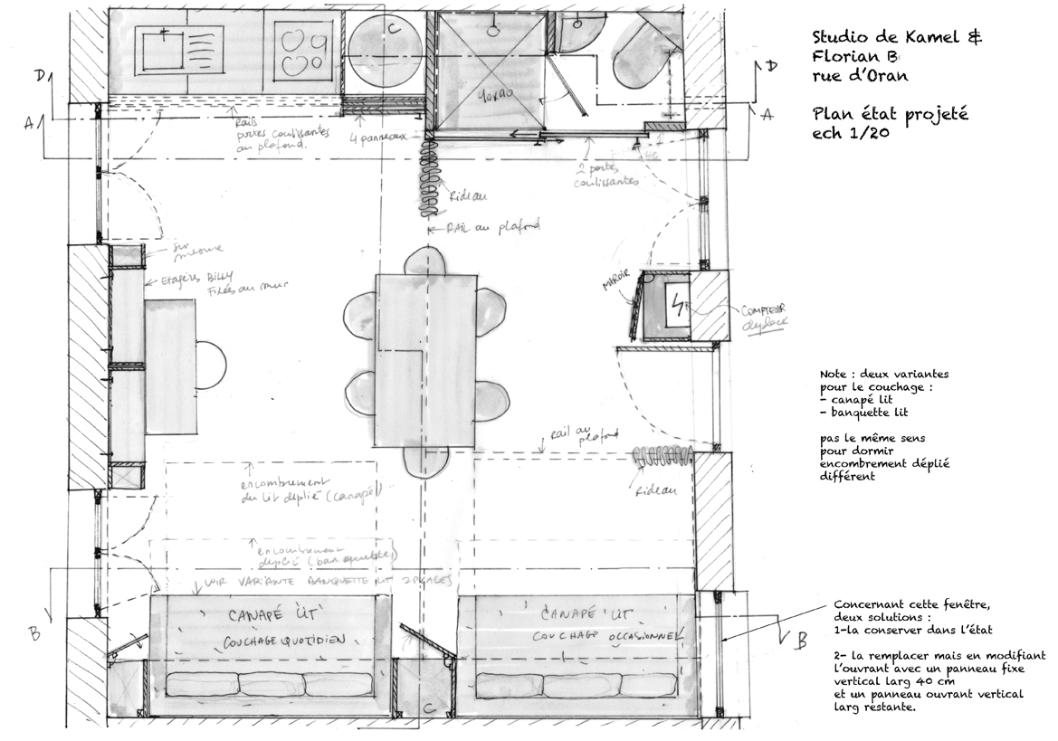 dessiner un plan d u00e9taill u00e9 d u0026 39 un studio