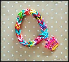 pulseira de elástico colorido