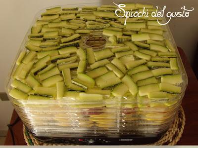 essiccare le zucchine in maniera naturale