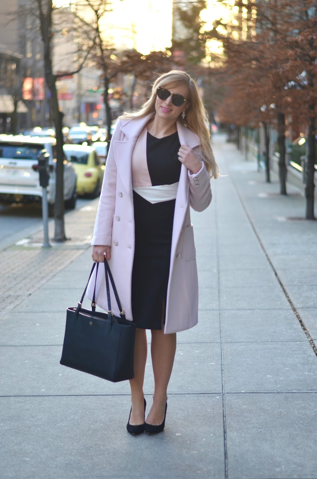 pastel pink wool winter coat