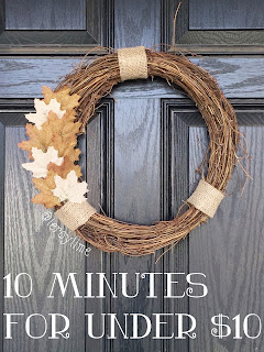10 Minute Wreath for under $10
