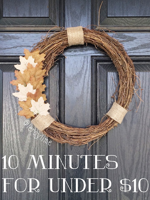 10 Minute Wreath for under $10 - LeroyLime