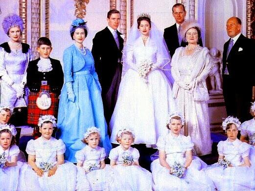 Królewskie śluby: księżniczka Małgorzata & Lord Snowdon.