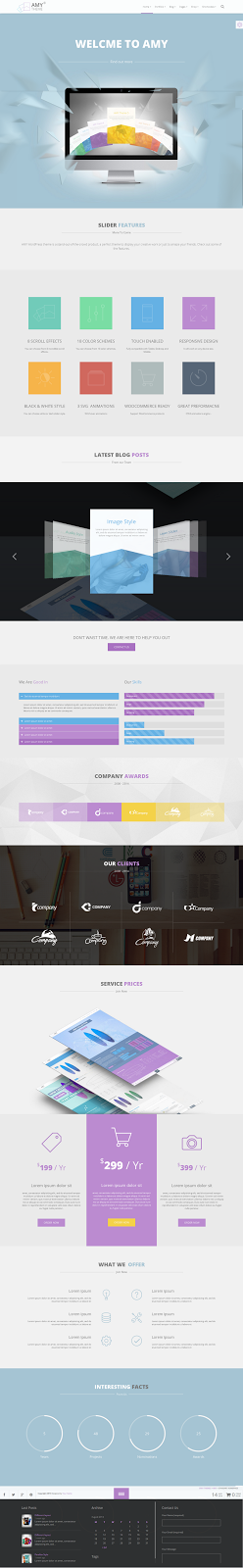 Free WP One Page Template