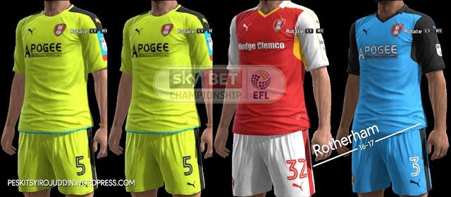 PES 2013 Rotherham Kit Season 2016-2017