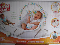 BRIGHTSTARTS Savana Dream Rocker Baby Bouncer and Rocker
