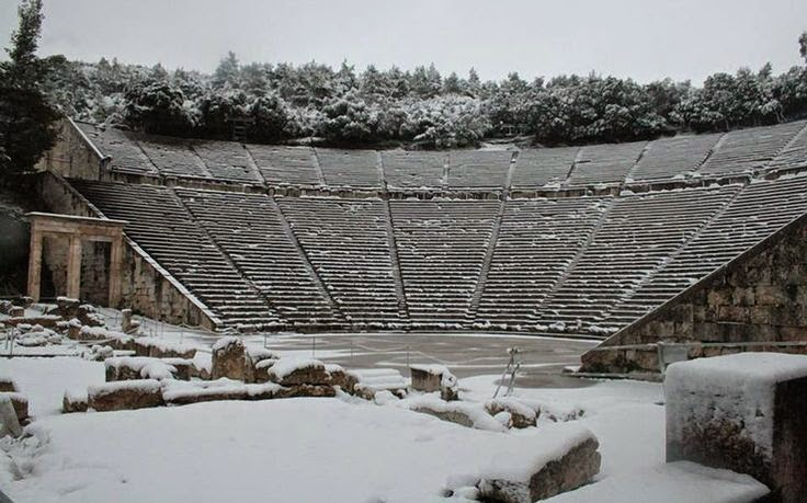 Epidaurus in winter