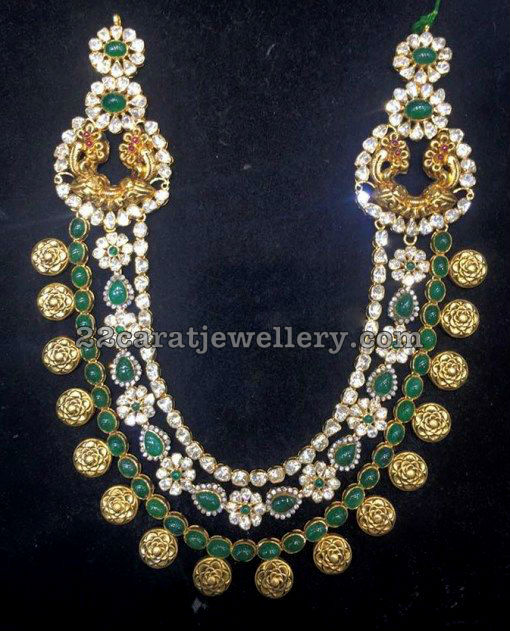 Polki Emerald Long Chain