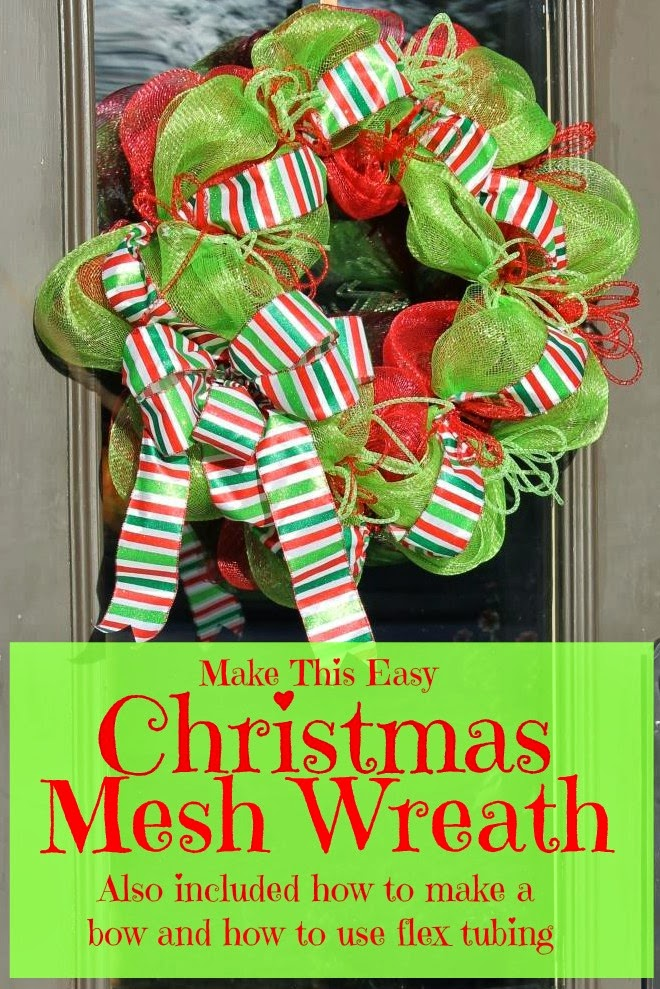 Make A Christmas Mesh Wreath | Miss Kopy Kat