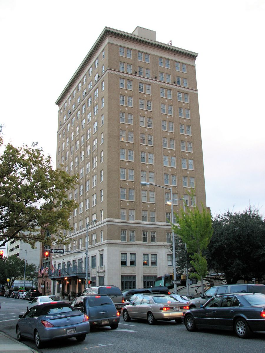 The Redmont Hotel In Birmingham Alabama Is A 13 Story Historic Built 1925 It Still Operation As And Has Been Red