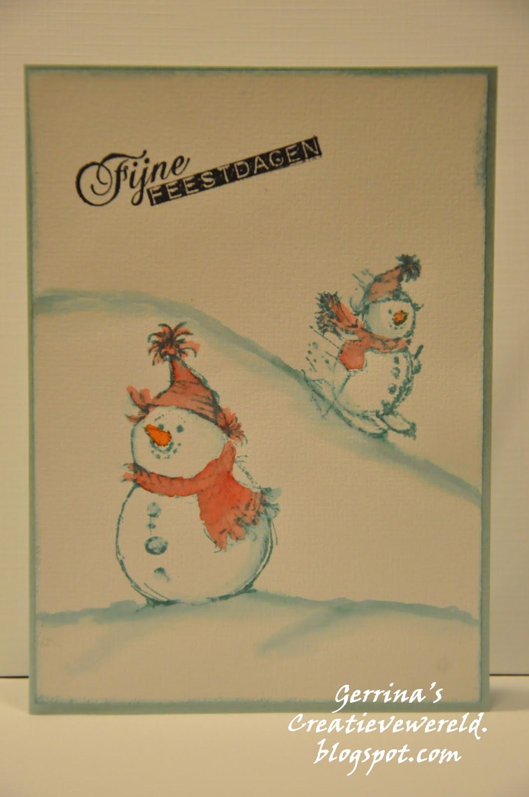 Gerrina S Creatieve Wereld Weer Kerstkaarten Christmascards Again