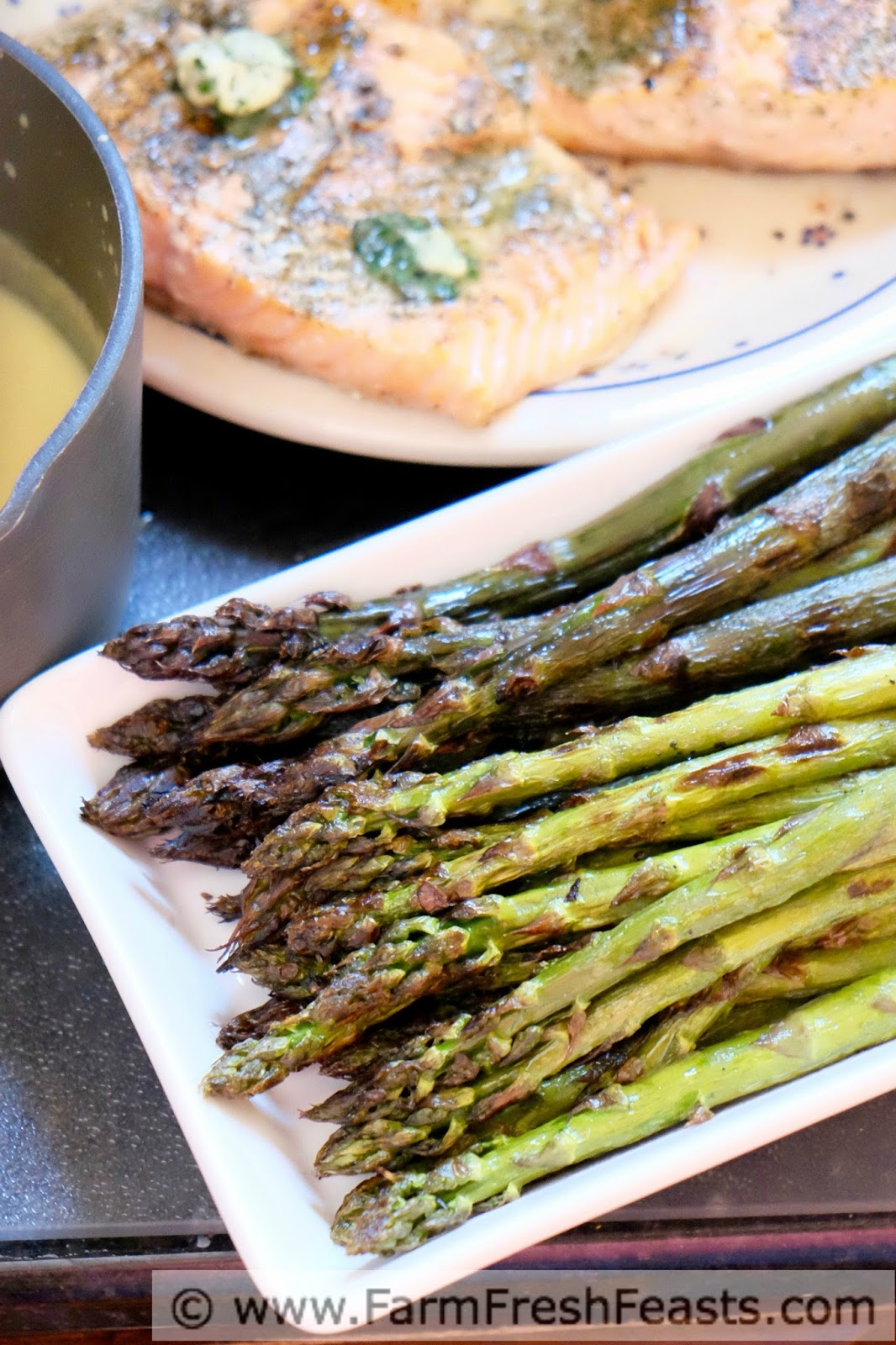 Use The Right Tools For The Job To Grill A Father's Day Meal Of Grilled  Asparagus