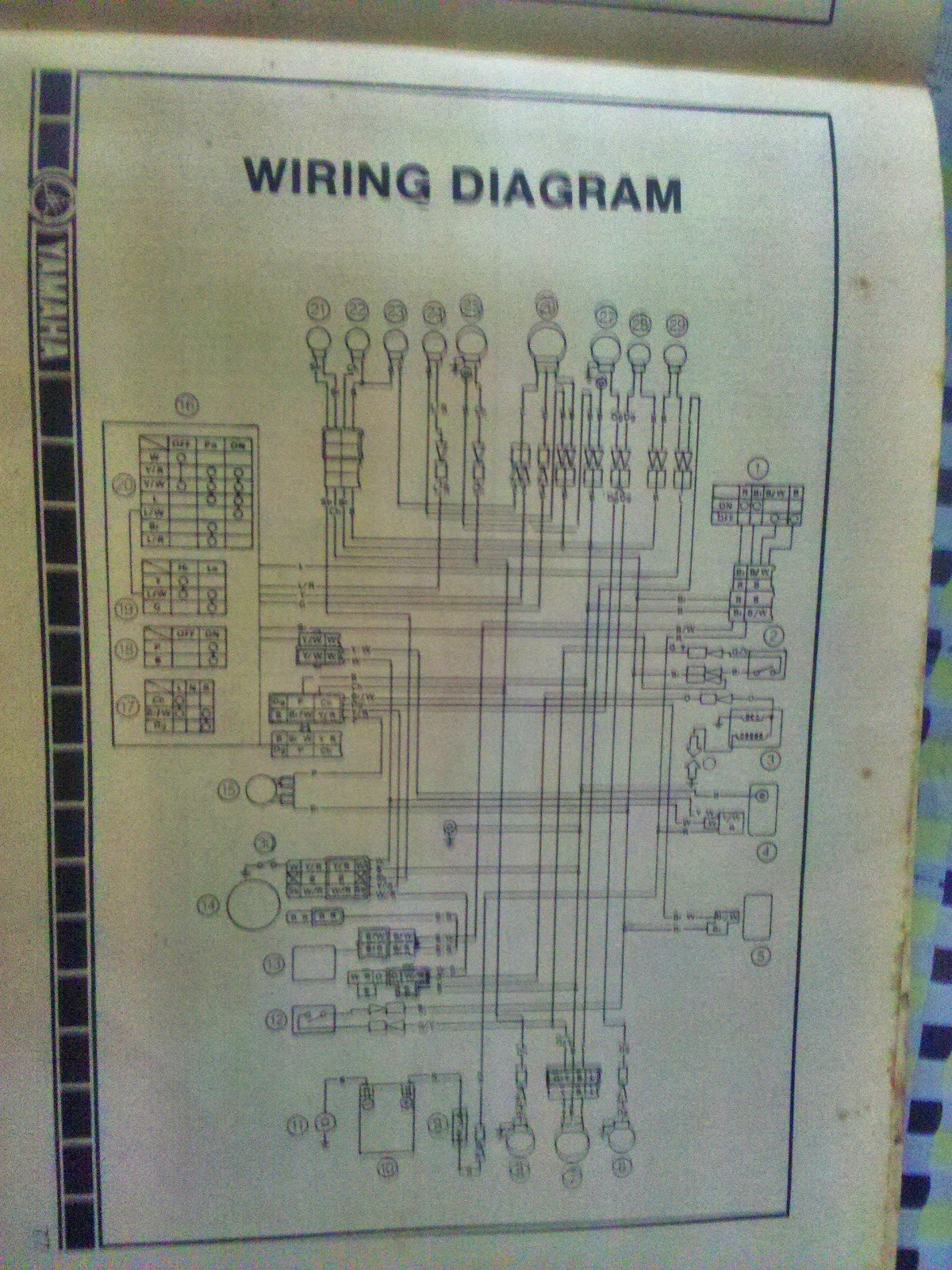Rare Motorcycle Yamaha Rx 100 Owners Manual Wiring Schematic Was Launched In 1985 And Came Till 1996 Every Biker Boy Had A Dream Own It Is 98cc Which With The