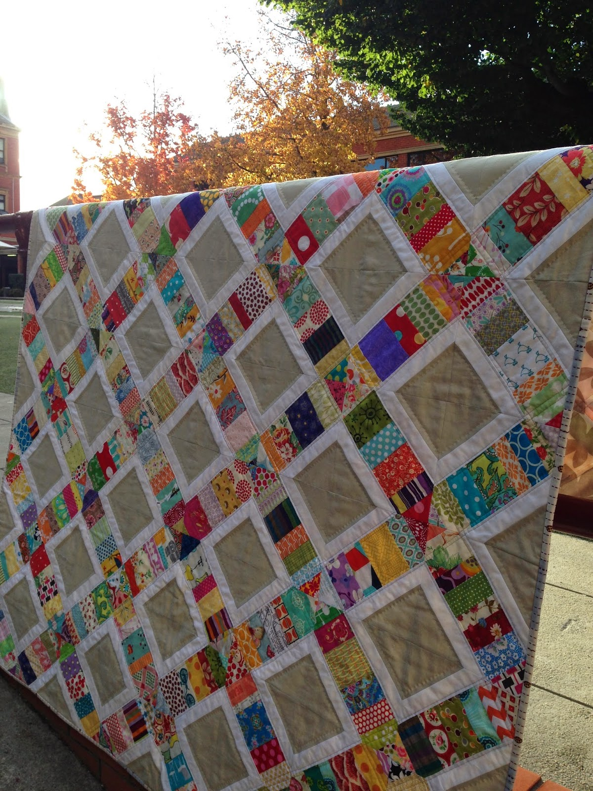 """Scrappy Sandwiches"" a Free Scrappy Quilt Pattern designed by Suz from Patchwork n Play"