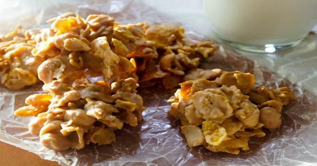 Old School Butterscotch Corn Flake Cookies Recipe