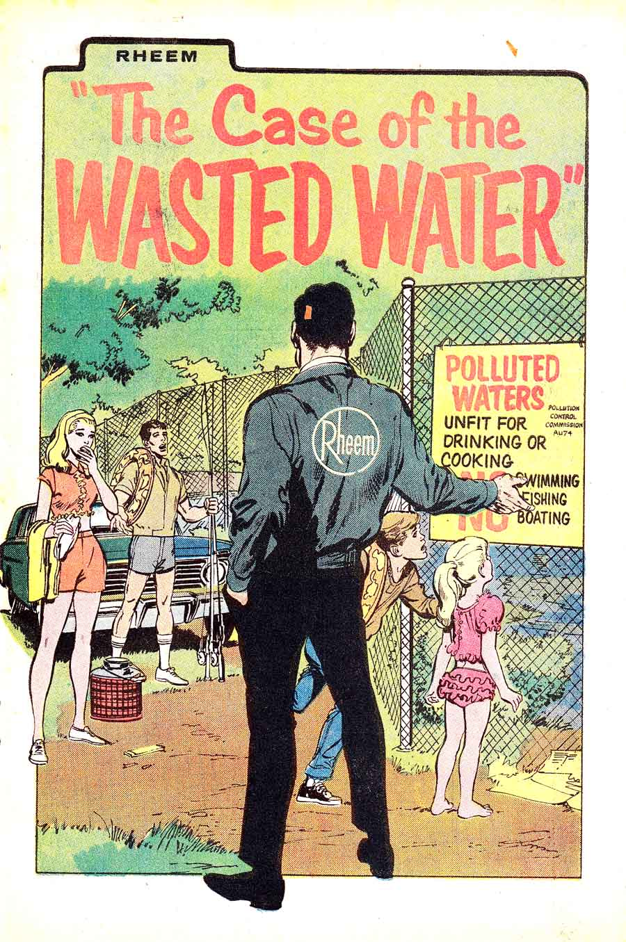 Neal Adams cover - Case of the Wasted Water 1960s giveaway comic book
