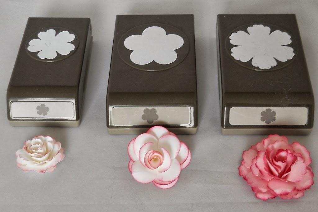 l ftchen basteln mit papier und stempeln rosen aus papier. Black Bedroom Furniture Sets. Home Design Ideas