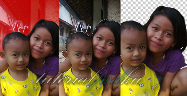 Proses Seleksi Menggunakan Quick Mask Tool - Cara Mengganti Background Foto menggunakan Photoshop - Topikramdani.com
