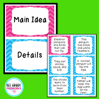 Main Ideas & Details in writing