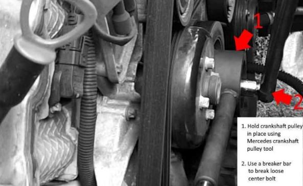 Mercedes Crankshaft Pulley / Harmonic Balancer DIY