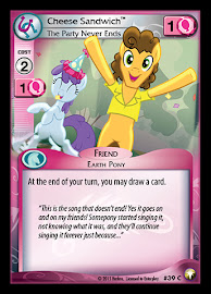 My Little Pony Cheese Sandwich, The Party Never Ends Equestrian Odysseys CCG Card